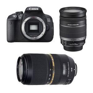 Canon EOS 700D (avec 2 objectifs 18-200mm et Tamron 70-300mm)