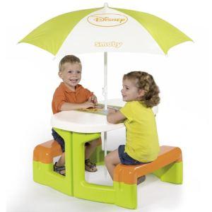 Smoby Table pique nique avec parasol Winnie l'Ourson