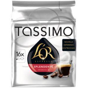 Tassimo 16 dosettes T-Discs L'OR espresso Splendente