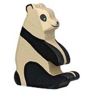 Holztiger Figurine Panda assis en bois