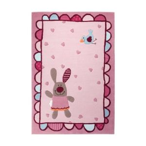 Unamourdetapis Tapis enfant Happy Friends Hearts en acrylique (120 x 180 cm)