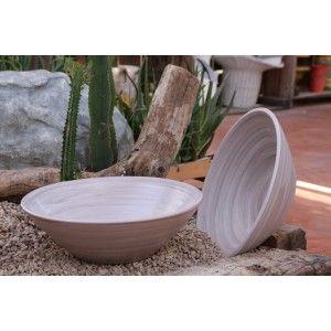 Clair de Terre Hegoa - Poterie en terre cuite émaillée forme coupe Ø42 x 12 cm