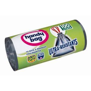 Handy Bag 3557880353 - 10 Sacs de poubelle Ultra résistant  (100 L)