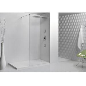 Le Monde du Bain Paroi de douche fixe SINGLE en verre 8mm 90x200