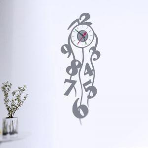 Horloge murale sticker Design Lierres