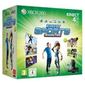 Microsoft Xbox 360 Slim 4 Go Kinect Sport - Console + capteur + le jeu Kinect Sports Saison 2