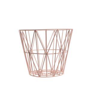 Ferm Living Corbeille à papier Wire taille S (35 x 45 cm)