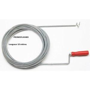 Ribitech PRFD100C - Déboucheur canalisation longueur 10m avec crochet