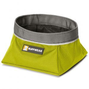 Ruffwear Gamelle de voyage pour chien Quencher vert - Sac 0,75 l