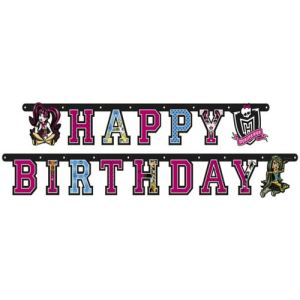 "Amscan Guirlande ""Happy Birthday"" Monster High"