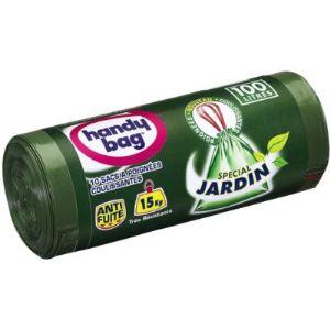 Handy Bag 10 sacs de poubelle jardin avec poignées coulissantes (100 L)