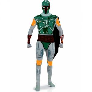 Déguisement adulte seconde peau Boba Fett- Star Wars