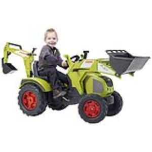 Falk / falquet Tracteur à pédales Claas Axos avec chargeur et pelle arrière