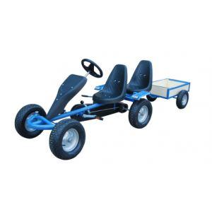 VidaXL Kart à pédales 2 places avec remorque