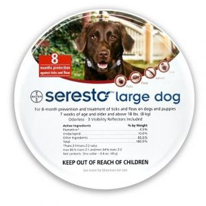 Bayer Seresto - Collier antiparasitaire grands chiens plus de 8 kg - 8 mois de protection