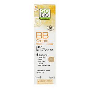 So'Bio Étic 01 beige lumière - BB cream lait d'ânesse bio