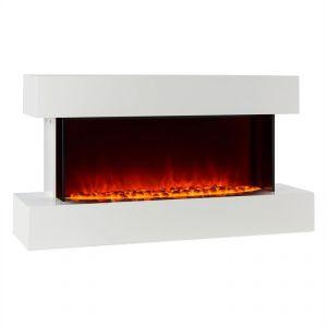 Klarstein Studio-2 - Cheminée électrique simulation de flammes LED 1000/2000 W 40 m2