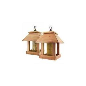 Mangeoire à oiseaux en bois Duo