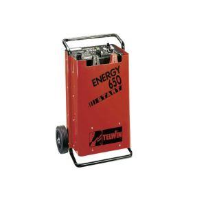 Telwin Energy 650 Start - Chargeur et démarreur de batterie sur roues (829385)