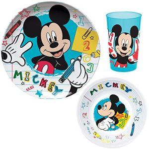 Set 3 pièces en mélamine Mickey