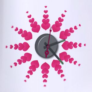 Horloge murale sticker Design By Heart