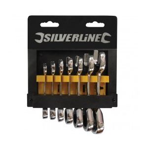 Silverline 199916 - Jet de 7 clés à cliquet compactes 8 - 19 mm