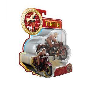 Plastoy Figurine Tintin et moto (10 cm)