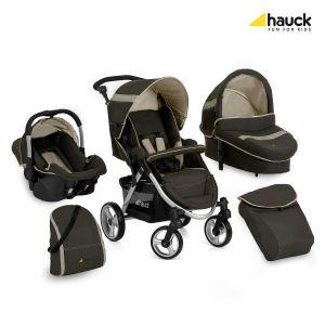 Hauck Apollo All in One - Combiné Trio avec poussette, nacelle, siège auto et sac à langer