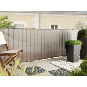 Intermas Gardening 174022 - Brise vue Everly Platinium occultant à 85 % 5 x 1 m
