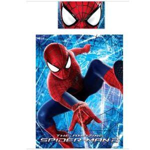 Character World Spiderman Web 3D - Housse de couette et oreiller (135 x 200 cm)