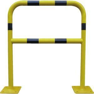 Viso BAR400NJ - Barrière de sécurité acier avec platine tube diamètre 40 mm noir et jaune 1000 x 1000 mm