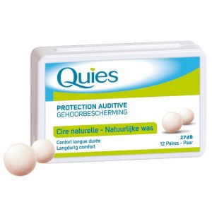 Quies Cire naturelle 24 unités