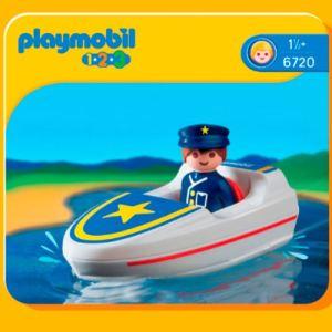 Playmobil 6720 - 1.2.3 : Policier + bateau