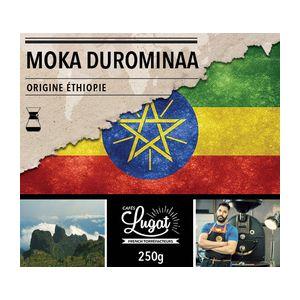Cafés Lugat Café moulu pour cafetière Hario/Chemex : Ethiopie - Moka Durominaa - 250g