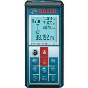 Bosch GLM 100 C - Télémètre laser portée 100 m précision 1,5 mm