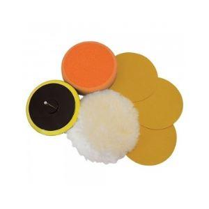 Silverline 107912 - Boîte de 6 accessoires de ponçage / polissage sur perceuse 125 mm