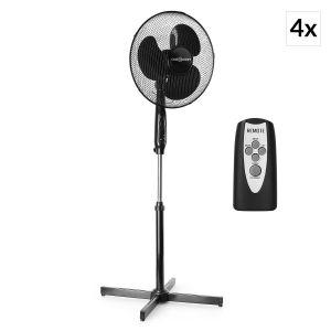 OneConcept Black Blizzard RC - Set 4 ventilateurs sur pied de 40,6 cm avec télécommande