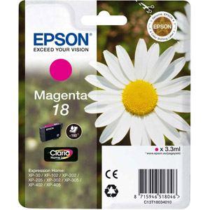 Epson T1803 - Cartouche d'encre n°18 magenta