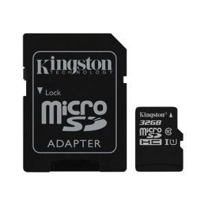 Kingston SDC10G2/32GB - Carte mémoire microSDHC 32 Go Class10 UHS-I + adaptateur SD