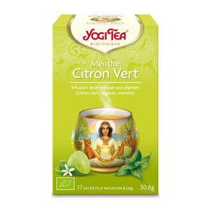 Yogi Tea Infusion éxotique menthe citron vert - Boîte de  17 Sachets