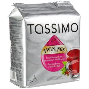 tassimo 16 dosettes t discs th twinings infusion saveur fruits des bois comparer avec. Black Bedroom Furniture Sets. Home Design Ideas