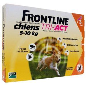 Frontline Tri-Act Chiens 5-10 Kg Boite de 3 Pipettes