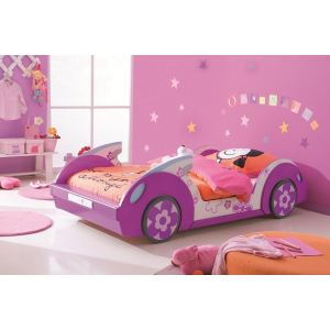 Terre de Nuit Lit d'enfant Pink Flower (90 x 190 cm)