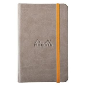 Rhodia 118644C Rhodiarama taupe A6 - Webnotebook format 9 x 14 cm, 192 pages ligné