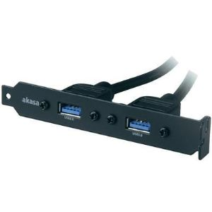 Akasa AK-CBUB17-40B - Adaptateur USB 3.0 A femelle/femelle