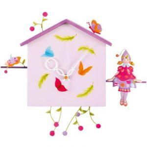 L'oiseau bateau HOR0003 - Horloge murale la fille et le papillon Alabonneheure
