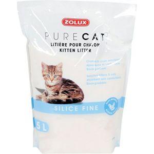 Zolux Litière pour chaton Pure Cat en silice fine 5 L