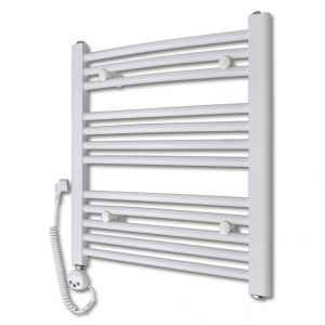 VidaXL 140881 - Radiateur sèche-serviettes incurvé avec thermostat 600x764mm