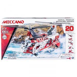 Meccano 6028598 - Hélicoptère 406 pièces (20 modèles)
