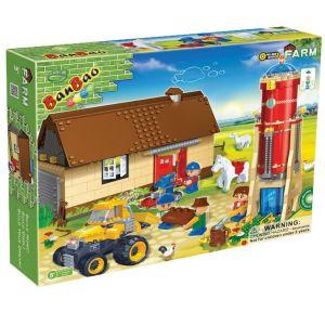 BanBao La ferme avec grange, silo d'eau et tracteur (590 pièces)